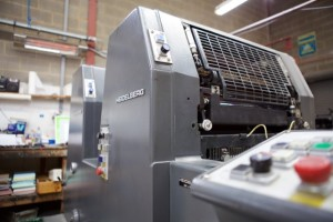 A Heidelberg GT printing press at Bounty Print